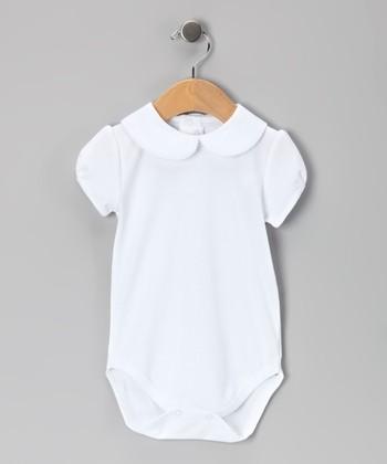 White Picot Bodysuit - Infant & Toddler