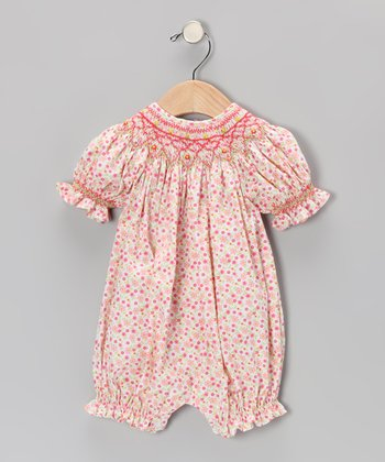 Pink Floral Bishop Bubble Romper - Infant & Toddler