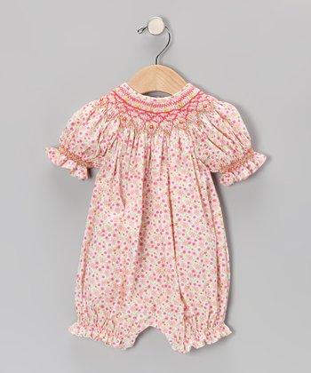 Pink Floral Bishop Bubble Romper - Infant & Toddler