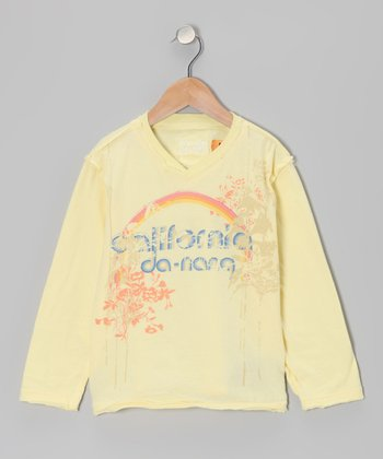 Daffodil Yellow 'California' Long-Sleeve Tee