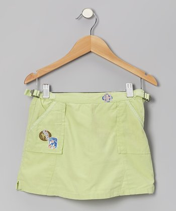 Apple Green Silk Skort