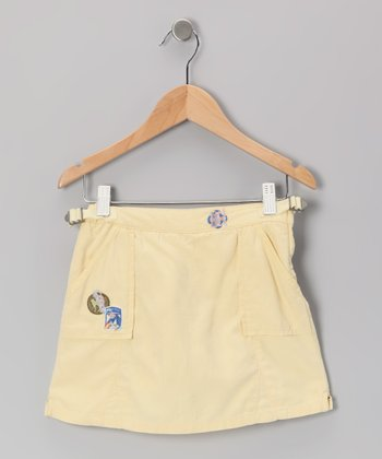 Shine Silk-Blend Utility Skort - Girls