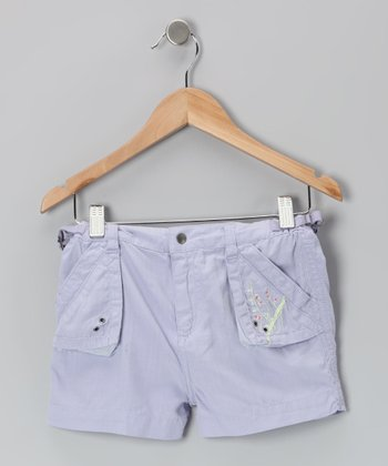 Violette Embroidered Silk-Blend Shorts - Girls