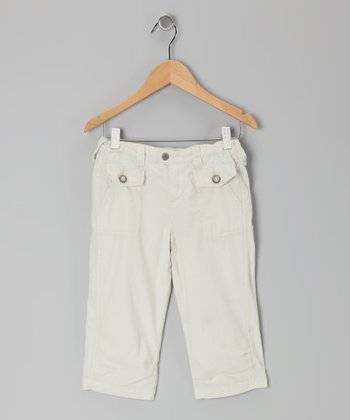 Aspen White Capri Pants - Girls
