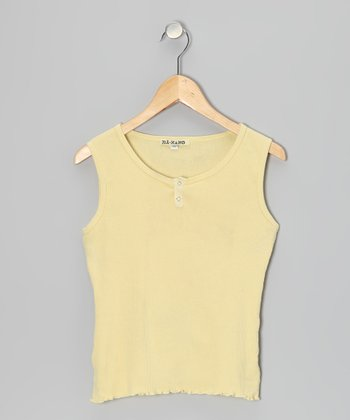 Moon Yellow Flower Tank - Girls
