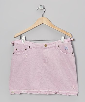 Bubblegum Pink Rivet Skirt - Girls