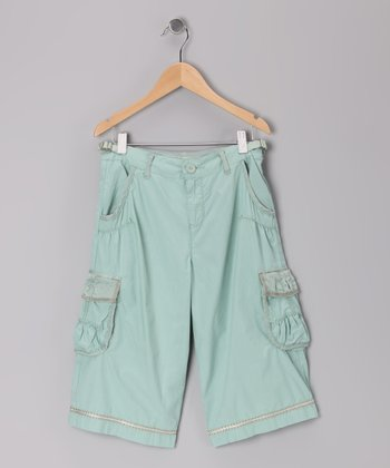 Key Largo Green Crop Cargo Pants