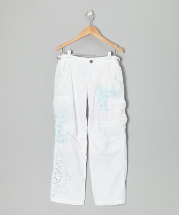 Optic White & Blue Cargo Pants