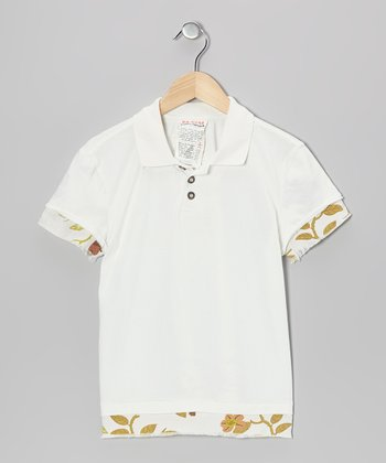 Optic White Flower Polo