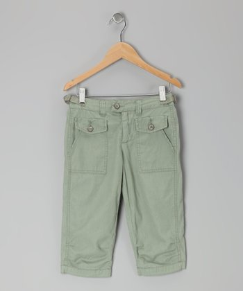 Dublin Green Capri Pants