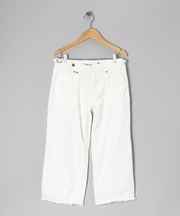 White Crop Pants