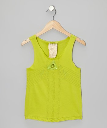 Tropic Sequin Triangle Tank