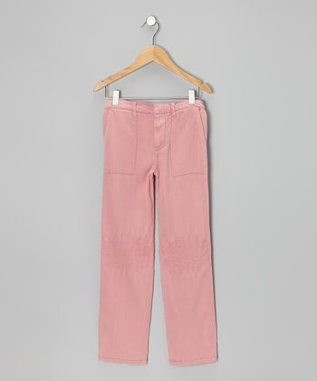 Mauve Stitched Pants