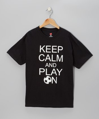 Black 'Calm' Tee - Kids & Adult