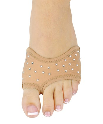 Tan Rhinestone Neoprene Half Sole