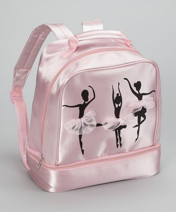 Seesaws & Slides Pink & Black Ballet Silhouette Backpack