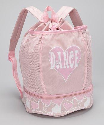Seesaws & Slides Pink 'Dance' Mesh Tie-Top Backpack