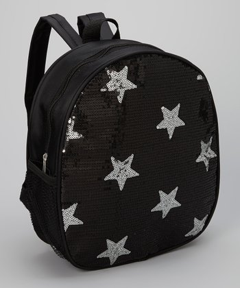 Black Sequin Star Backpack