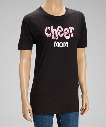 Dance World Bazaar Black 'Cheer Mom' Tee - Women
