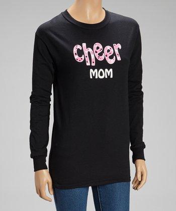 Black 'Cheer Mom' Long Sleeve Tee - Women