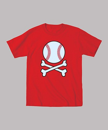 Red Baseball Crossbones Tee - Toddler & Boys