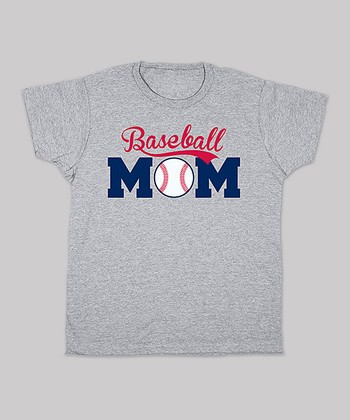Heather Gray 'Baseball Mom' Tee - Women & Plus
