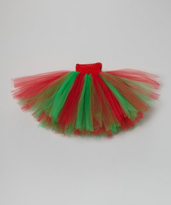 Green & Red Christmas Tutu - Infant & Toddler
