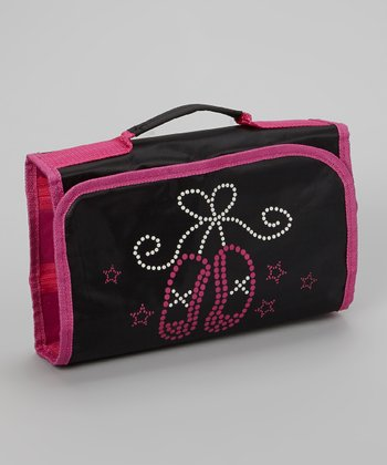 Black & Pink Ballet Slipper Cosmetic Case