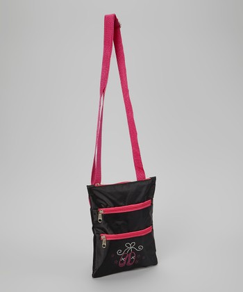 Black & Pink Ballet Slipper Messenger Bag