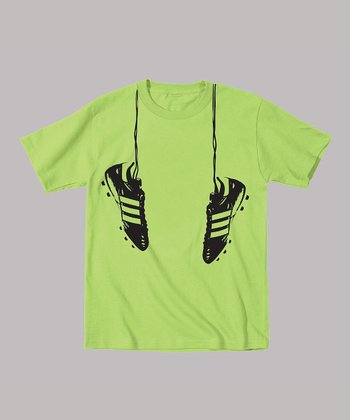 Lime Hanging Shoes Tee - Toddler & Boys