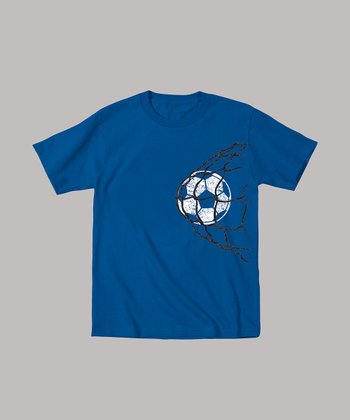 Royal Blue Ball in Net Tee - Toddler & Kids