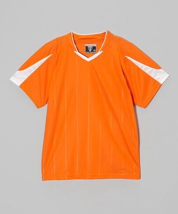 Vizari Orange Geneva Soccer Jersey - Kids & Adult