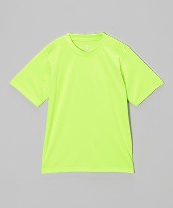 Vizari Neon Green Performance T-Shirt - Adult