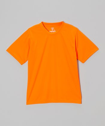 Vizari Neon Orange Performance Tee - Kids & Adult