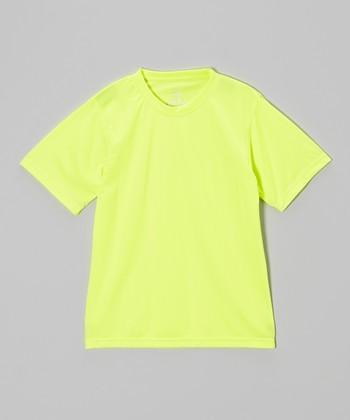 Vizari Neon Yellow Performance Tee - Kids & Adult