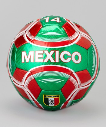 Green & Red Mexico Soccer Ball