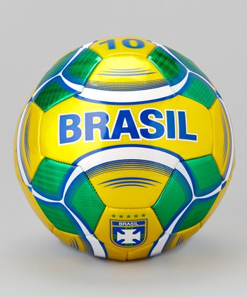 Yellow & Green Brasil Soccer Ball