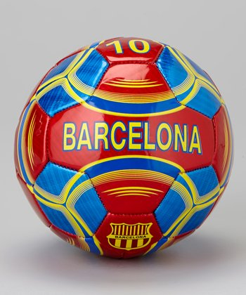 Burgundy & Blue Barcelona Mini Trainer Ball