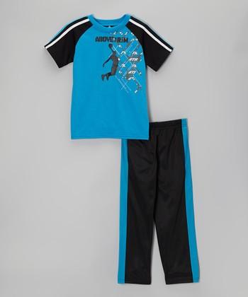 Above The Rim Blue & Black Tee & Track Pants - Infant, Toddler & Boys