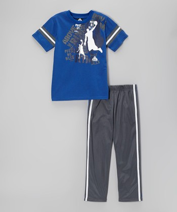 Above The Rim Blue & Gray Tee & Track Pants - Infant, Toddler & Boys