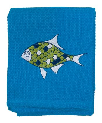 Aquatica Embroidered Towel - Set of Two