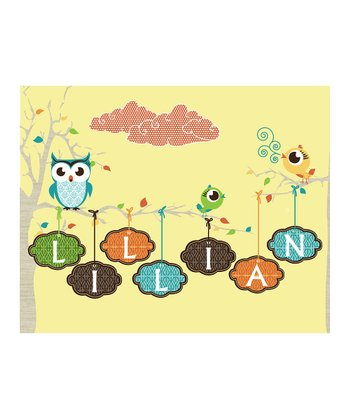Yellow Personalized Momma's Baby Bird Print