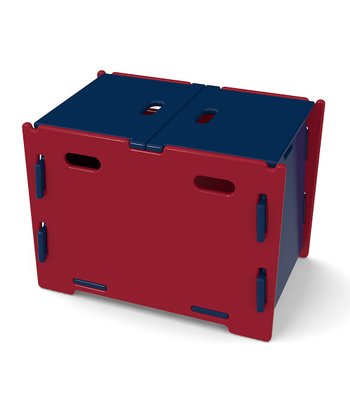 Navy & Red Toy Box