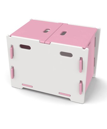 Legaré Pink & White Toy Box