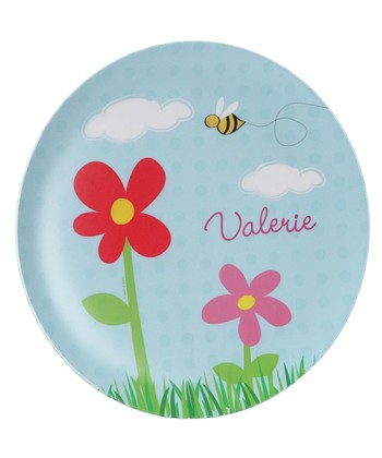 Spring Flowers Personalized Plate