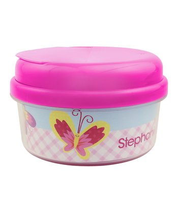 Smiley Butterfly Personalized Snack Container