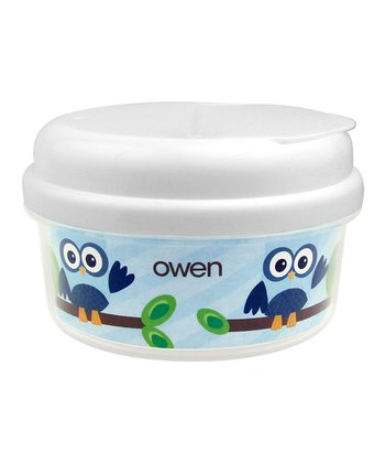 Owl Boy Personalized Snack Container