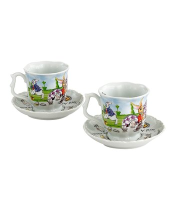 Alice in Wonderland 7-Oz. Cup & Saucer - Set of Two