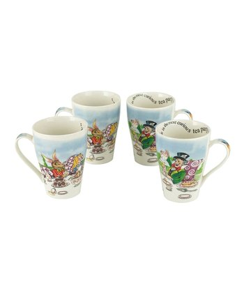 Alice in Wonderland Bone China 15-Oz. Mug Set