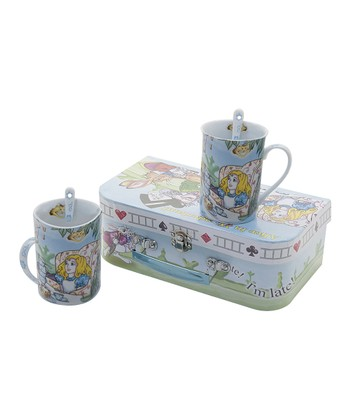 Alice in Wonderland Mug & Spoon Set